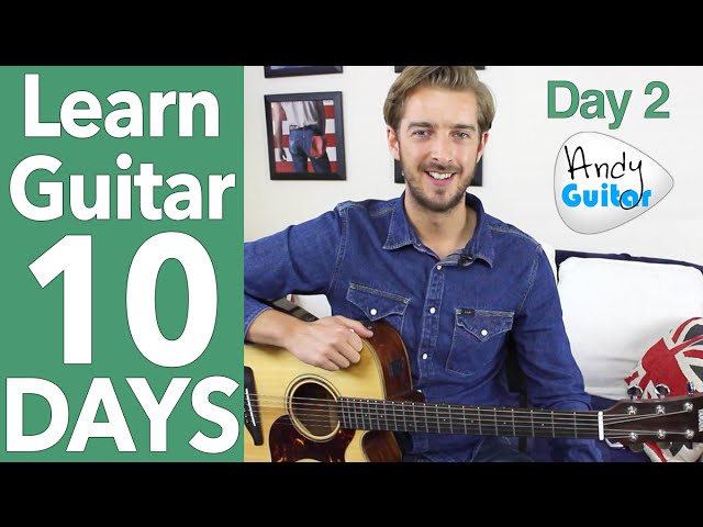 Guitar Lesson 2 – EASY 2 CHORD SONG & LEAD GUITAR [10 Day Guitar Starter Course]