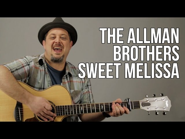 Allman Brothers – Sweet Melissa Acoustic Guitar Lesson – How To Play On Guitar