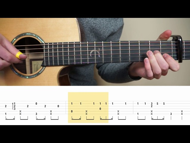 Ed Sheeran – Shape Of You – Fingerstyle Guitar TABS Tutorial (Lesson) | Mattias Krantz